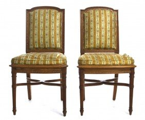 A Pair Of Louis XVI Beechwood Side Chairs, Height