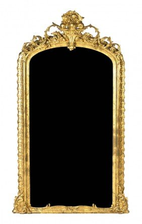 A Victorian Giltwood Pier Mirror, Height Overall 8