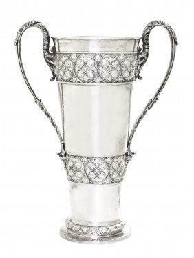 An English Silver Vase, Horace Woodward & Co. (Edg