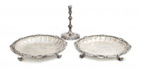 A Pair Of Sterling Silver Footed Salvers, Crichton