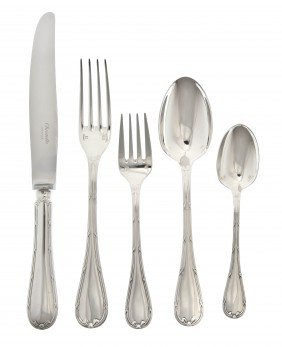 A French Silverplate Flatware Service For Ten, Ch