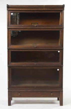 An American Oak Barrister Bookcase, Globe-Wernick