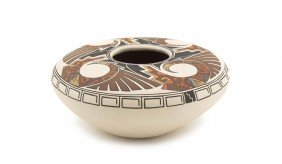 A Hopi Seed Jar, Height 5 X Diameter 9 Inches.