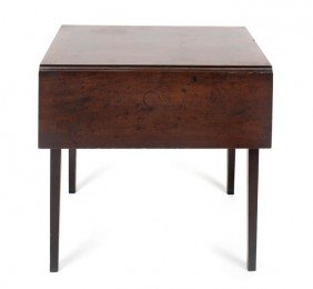 An American Mahogany Tea Table, Height 23 1/4 Inches