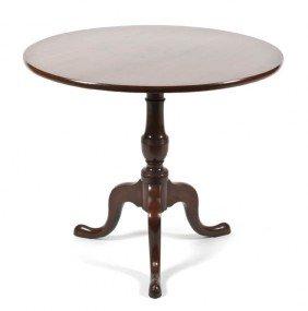 A Queen Anne Style Mahogany Tilt-Top Tea Table, Hei