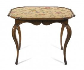 A Provincial Side Table, Height 27 1/2 Inches.