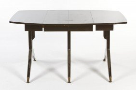 A Modern Drop-Leaf Table, Height 29 1/2 X Width 2