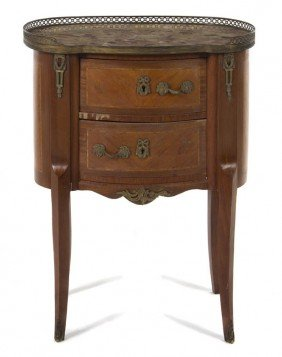 A Louis XVI Style Side Cabinet, Height 30 X Width