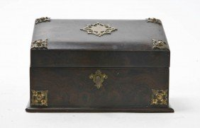 A Burlwood And Gilt Metal Mounted Stationery Box,