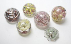 A Collection Of Twelve Paperweights, Height Of Ta