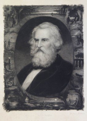 LONGFELLOW, HENRY WADSWORTH. Etching And Engraving