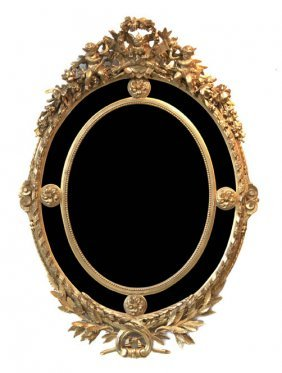 A French Giltwood Mirror, Height 57 5/8 Inches.