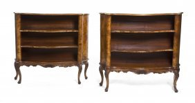 A Pair Of Louis XV Style Burlwood Bookcases, Height