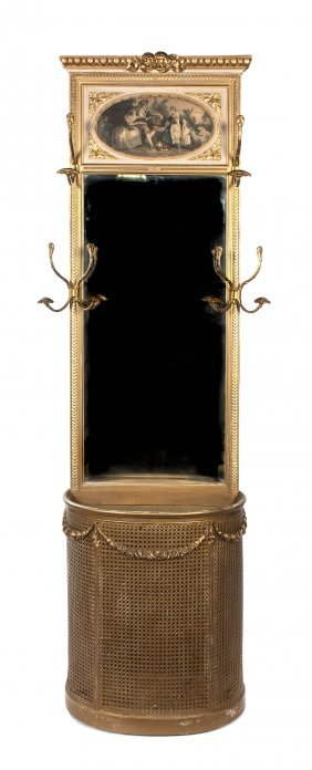 A French Giltwood Hall Tree, Height 89 3/4 X Width