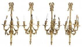 A Set Of Four American Louis XVI Style Gilt Bronze