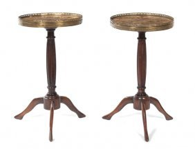 A Pair Of Directoire Style Mahogany Brandy Stands,