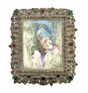 An Austrian Gilt Metal And Miniature Painting Inse