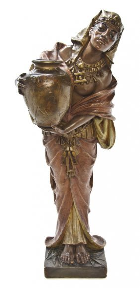 An Egyptian Revival Terracotta Figure, Height 35 1