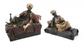 A Pair Of Papier Mache Orientalist Figures, Width