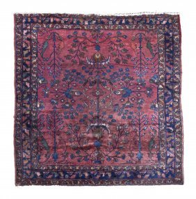 A Sarouk Wool Rug, 5 Feet 11 Inches X 5 Feet 2 In
