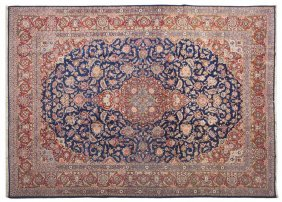 A Keshan Wool Rug, 9 Feet 1/4 Inches X 12 Feet 5/