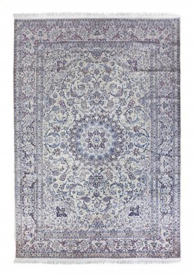 A Nain Silk And Wool Rug, Habibian, 10 Feet 4 Inc
