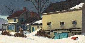 Luigi Lucioni, (American/Italian, 1900-1988), Winter