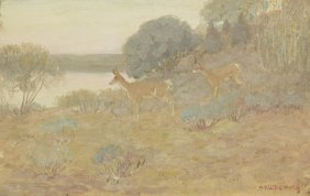 Edwin Willard Deming, (American, 1860-1942), Antelo