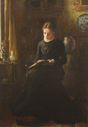 F. Martin, (American, 19th Century), The Student, 1