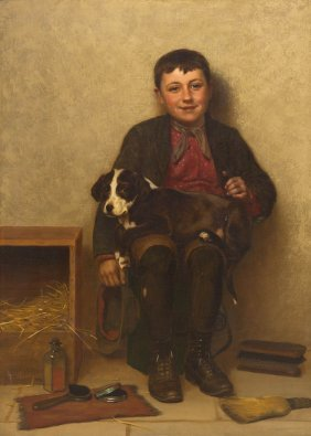 John George Brown, (American, 1831-1913), Contentme