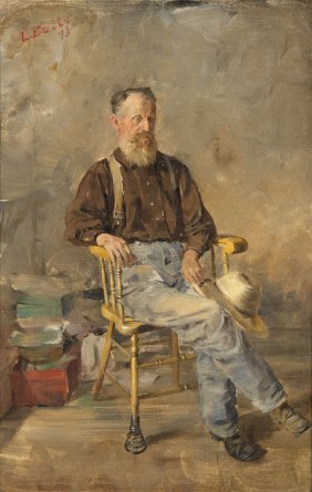 Louis Betts, (American, 1873-1961), Old Man In A Sp
