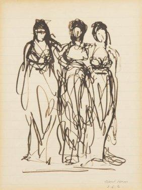 Robert Henri, (American, 1865-1929), Three Graces