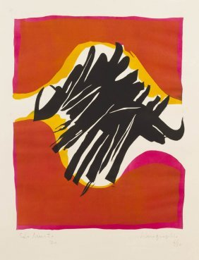 Edo Murtic, (Croatian, 1921-2004), Linographie, 1