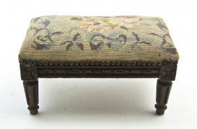 A Louis XVI Style Tabouret, Height 7 1/2 X Width