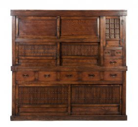 A Japanese Various Woods Tansu, Height 65 X Width
