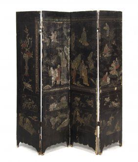 A Partial Chinese Coromandel Floor Screen, Height
