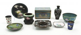 A Collection Of Cloisonne Articles, Width Of Wide