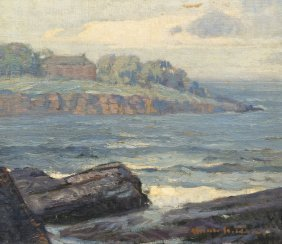American School, (20th Century), Seascape