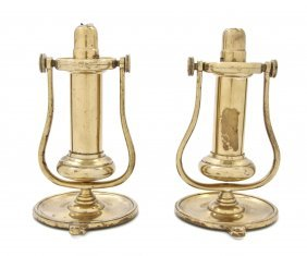 A Pair Of Brass Nautical Sconces, Height 7 1/4 Inche