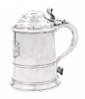 A George II Silver Tankard, Richard Bayley, Height 7