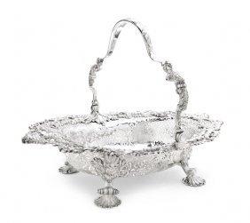 A George II Silver Basket, Thomas Gilpan, Width 16 I