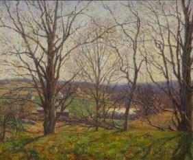 Wilson Henry Irvine, (American, 1869-1936), Tress In