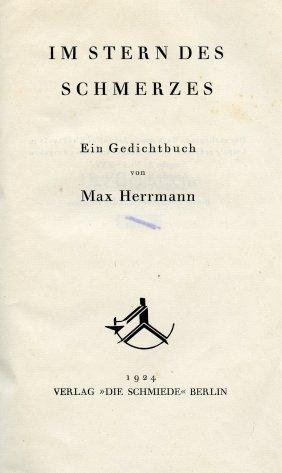 Im Stern Des Schmerzes - Max Hermann - Berlin, 1924