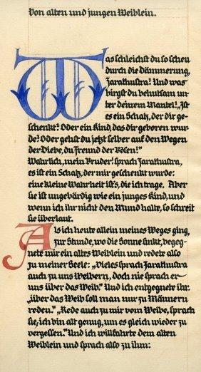 Drei Reben Zarathustra - Friedrich Nietzsche - Single