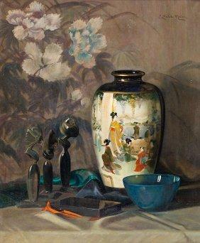 Elisabeth Stechele-mauer, Still Life With A Vase