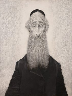 Maciej Lachur, Portrait Of Rabbi, 1972