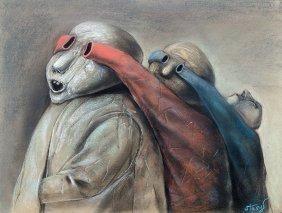 Stasys Eidrigevicius, Untitled, 1990