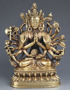 A Fine Gilt-bronze Buddha Figure