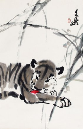 A Tang Wen Xuan Chinese Painting, Attributed To