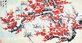 A Fine Water Color Chinese Painting, Attributed To
